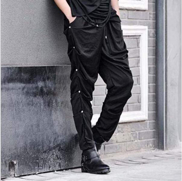 Aishang Mens Casual Drawstring Elastic Waist Jogger Pant Striped Decoration Sweatpant