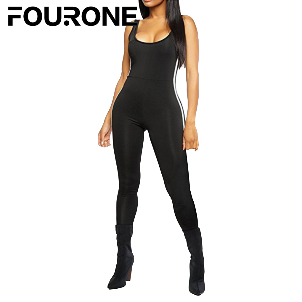 Women Bodycon Pure Color Jumpsuit Leotard Cut Out Hole Legging Rompers Sexy Tights Outfit