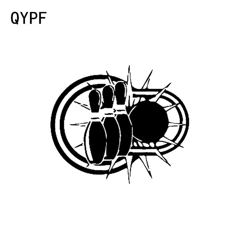 Car Stickers Exterior Accessories Qypf 15.5*13.3cm Interesting Bowling Sports Vinyl Car Stickers Accessories Motorcycle Decals C16-1287 Street Price