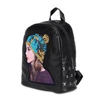 9154P Half J Men Backpack Canvas Travel School Shoulder Computer Backpacking Functional Bags