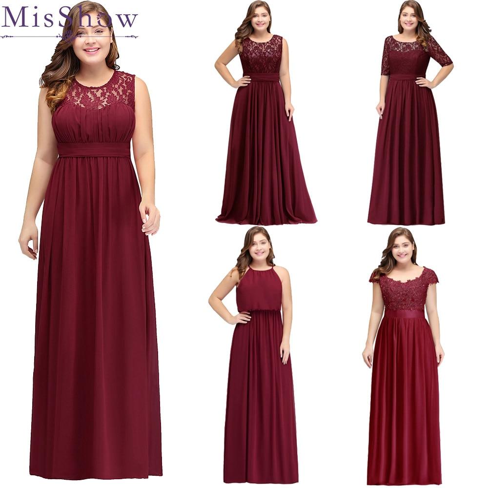 2019 Long Cheap Bridesmaid Dresses Lace Plus Size Bridesmaid Dress 6 Styles Chiffon Wedding Bridesmaid Gown