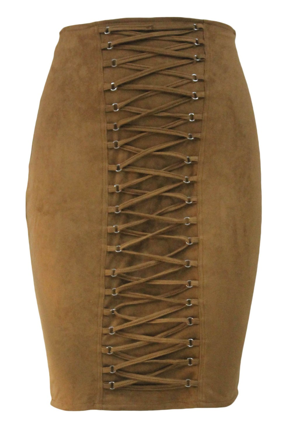 Brown-Lace-Up-Eyelet-Faux-Suede-Midi-Skirt-LC65027-17-2