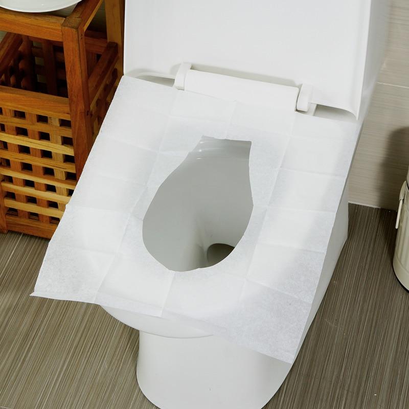 10packs 100pcs 1lot Disposable Toilet Seat Cover Mat 100