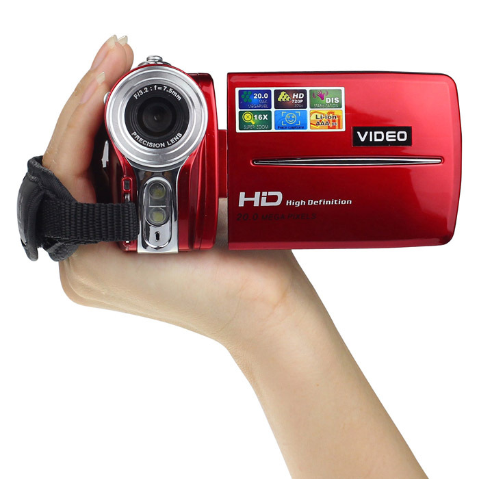ФОТО Newest 3 Inch TFT LCD 720P HD 20MP Digital Video Camcorder 16x Digital Zoom DV Camera up to 32G SD CARD