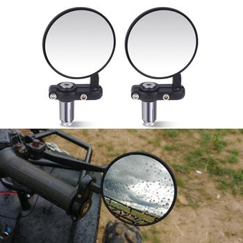 2 sztuk tył motocykla lustro kierownica motocykla koniec lustro 22mm dla cafe racer czarna rękojeść 7 8 #8222 lusterka dla motocykla tanie i dobre opinie Lusterka boczne i akcesoria 370g Motorcycle Rearview Side Mirrors Urbanroad 8 2cm 14 2cm Aluminum+Glass