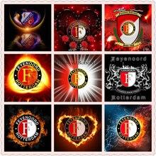 New 5D feyenoord Kids Diamond Painting Soccer carnival Full Square Drill ajax Badge Embroidery Mosaic Wall Decor