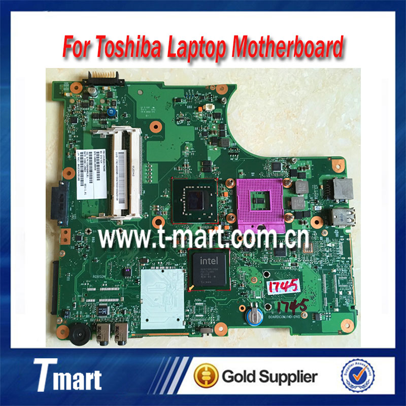 все цены на  100% working laptop motherboard for toshiba L300 V000138150 6050A2170201-MB-A03 system mainboard fully tested  онлайн