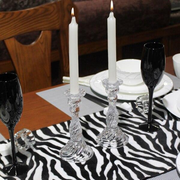 Bougeoir en verre, mariage nourriture occidentale hôtel Der Bar, bougie lumière table à dîner bougeoir