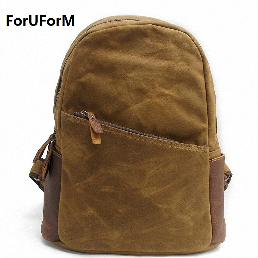 Men 15 inch Laptop Backpacks Vintage waterproof Canvas School Shoulder Bag Women Travel Large Casual Daypack Rucksacks LI-1642 men canvas 15 inch notebook backpack multi function travel daypack computer laptop bag male vintage school bags retro knapsack