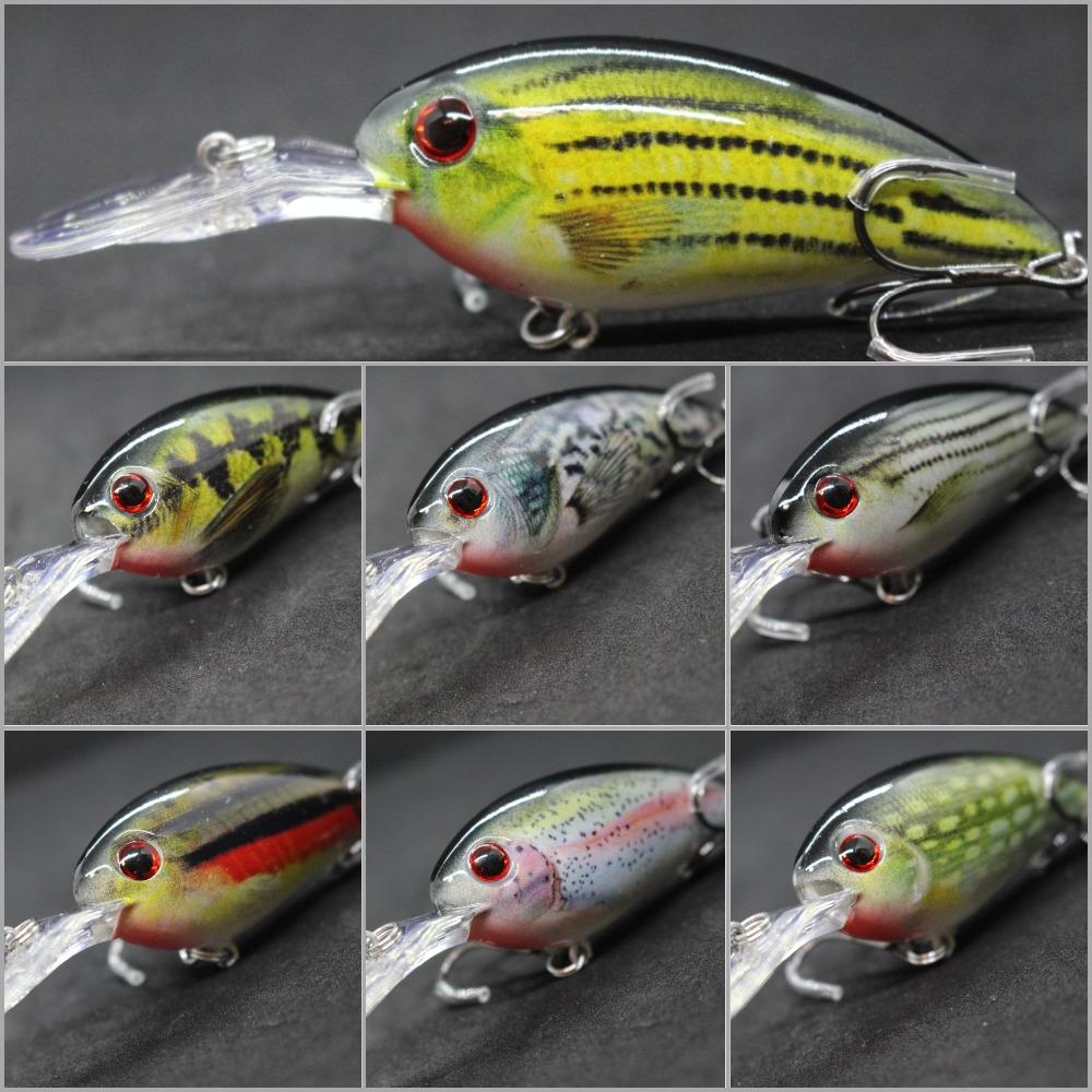 wLure 14.2g 10.2cm Crankbait Jerkbait Pictură RealSkin Slow Floating Wide Wobble Hard Momeală Pescuit Lure Calitate Cârlige HC55