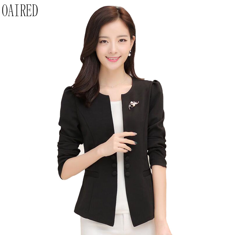 Plus Size Suit Women Blazer 2020 New Blazers Women Clothing Spring And Autumn Short Slim Suits Female Outerwear Black OAIRED
