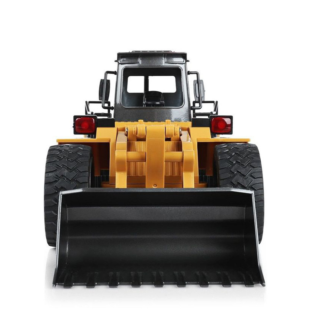 HUINA TOYS 1583 <font><b>1/14</b></font> 10CH Alloy RC Bulldozer Truck with Front Loader Truck Engineering Construction Car Vehicle Toy RTR for Boys image