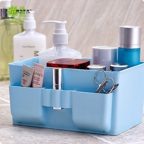 1PC Large Capacity Cosmetic Organizer box Plastic Makeup Cosmetics display Storage Box Desk Table Oragnizer Case OK 0211