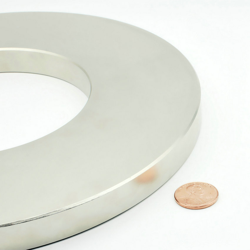 """NdFeB Magnet Large Ring OD 220x110x15 mm thick 8.7"""" round N42 Strong Neodymium Permanent Magnets Rare Earth Magnets 1-4pcs"""