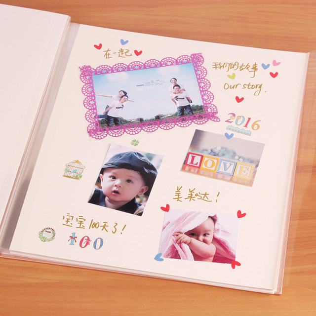 2017 new beautiful DIY photo album 7 styles of family baby lover children wedding photo album creative gift