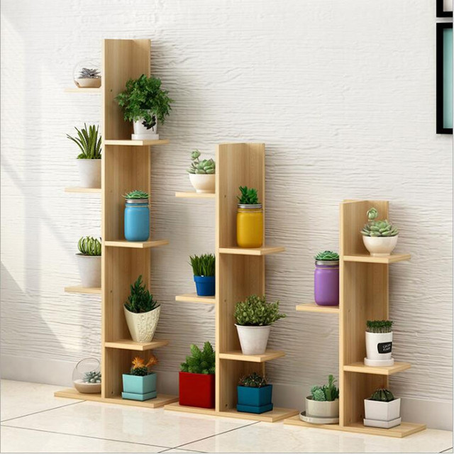 Wooden Plant Shelves Multi Layer Plant Stand For The Garden And The