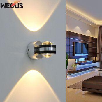 Wecus Up Down Wand Lampe Led Moderne Innen Hotel Dekoration Licht Wohnzimmer Schlafzimmer Nacht Tv Hintergrund Bild Lampen Gang