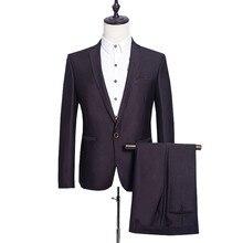 Jackets Pants Men Business Dress Suit Brand Formal Slim Fit Casual Suits Wedding Party Blazer