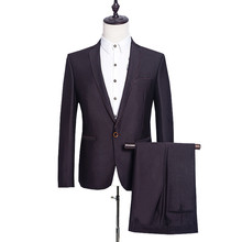 (Jackets+Pants ) Men Business Dress Suit Brand Formal  Slim Fit Casual Suits Wedding Party Blazer Costume Homme SL-E540