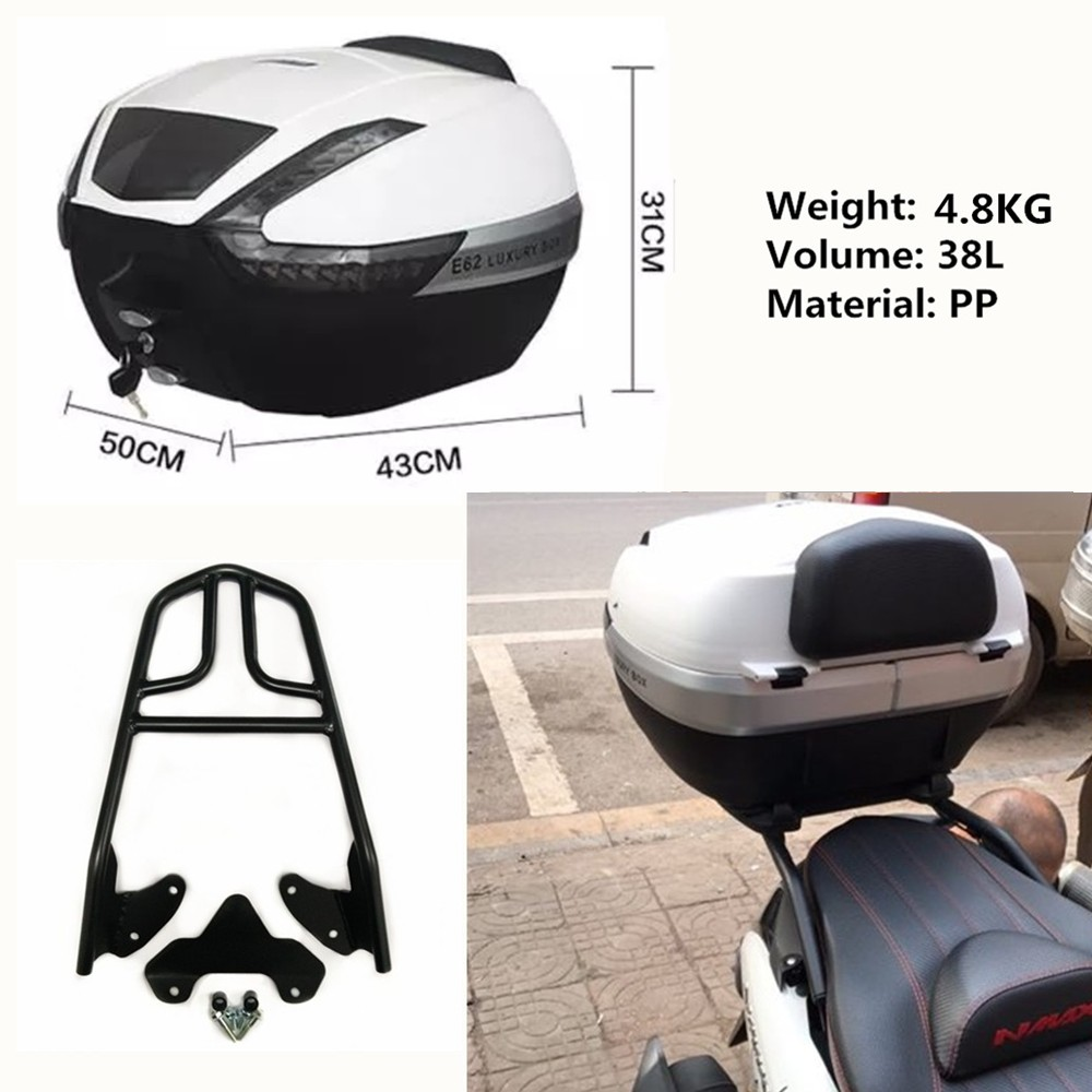 Buy Motorcycle Parts Rear Bracket Carrier Tail Rack Windshield Nmax 40cm Sporty Tailbox Top Box Luggage For Yamaha 155 Nmax155 125 From