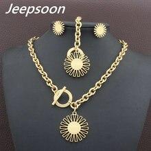 Nueva moda al por mayor collar y pulsera de acero inoxidable Juegos de joyería para las mujeres sfxfaeci