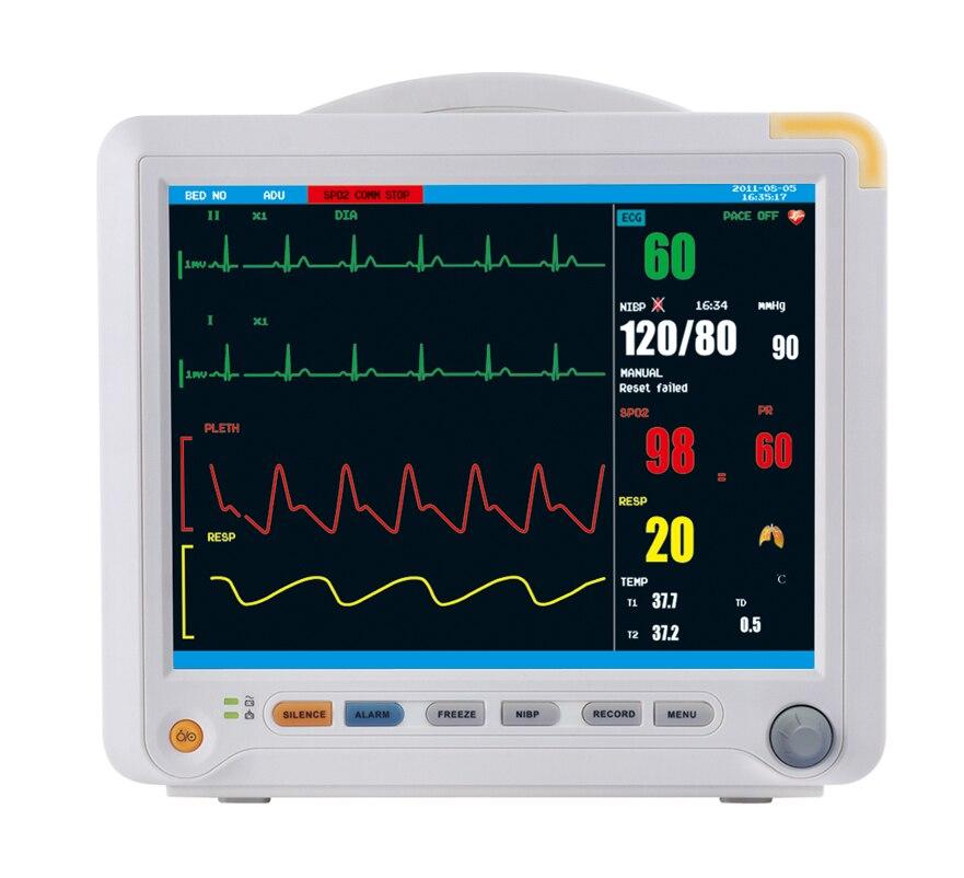 Multi Parametro ICU Monitor Paziente di Impulso ECG Pressione Sanguigna Temperatura Ossimetro Salute e Bellezza Attrezzature Mediche YK8000B