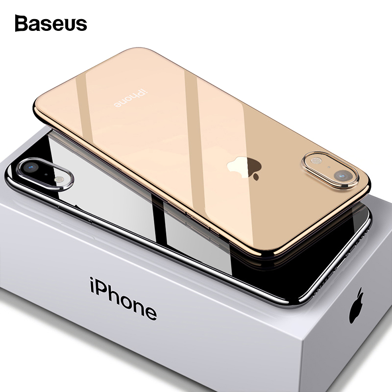 Baseus Phone Case For iPhone Xs Max Xr X S R Xsmax Coque Ultra Thin Slim Soft TPU Silicone Back Cover For iPhonexs Max Fundas ミラー 型 最新 駐車 監視 付き ドラレコ