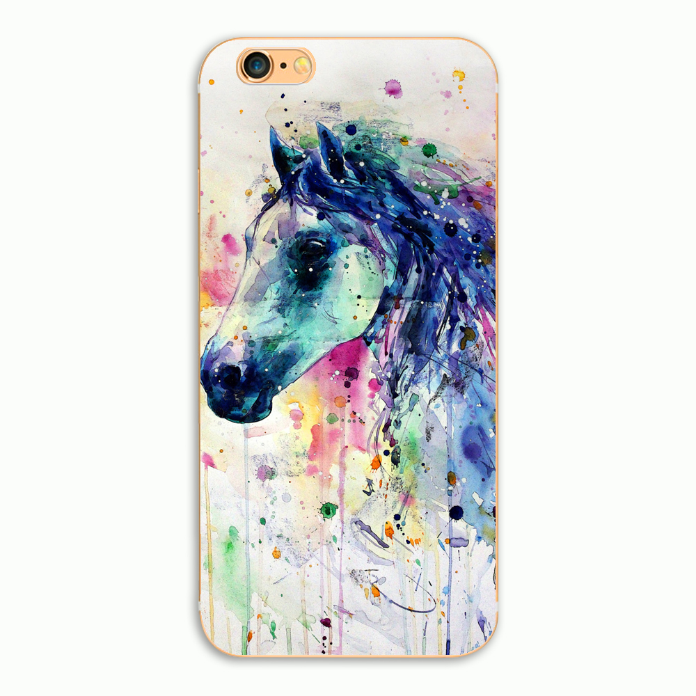 detailed look 5b261 95250 US $1.29 7% OFF|Aliexpress.com : Buy Hot sell color horse Phone Hard  Plastic Case Cover for iPhone 5 5s se 6 6s plus 7 7plus 8 8plus x Phone  Case from ...