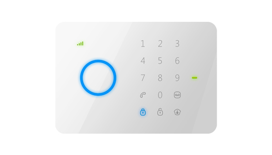 Free shipping Intercom home security wireless GSM alarm system Quad band 850/900/1800/1900MHZ