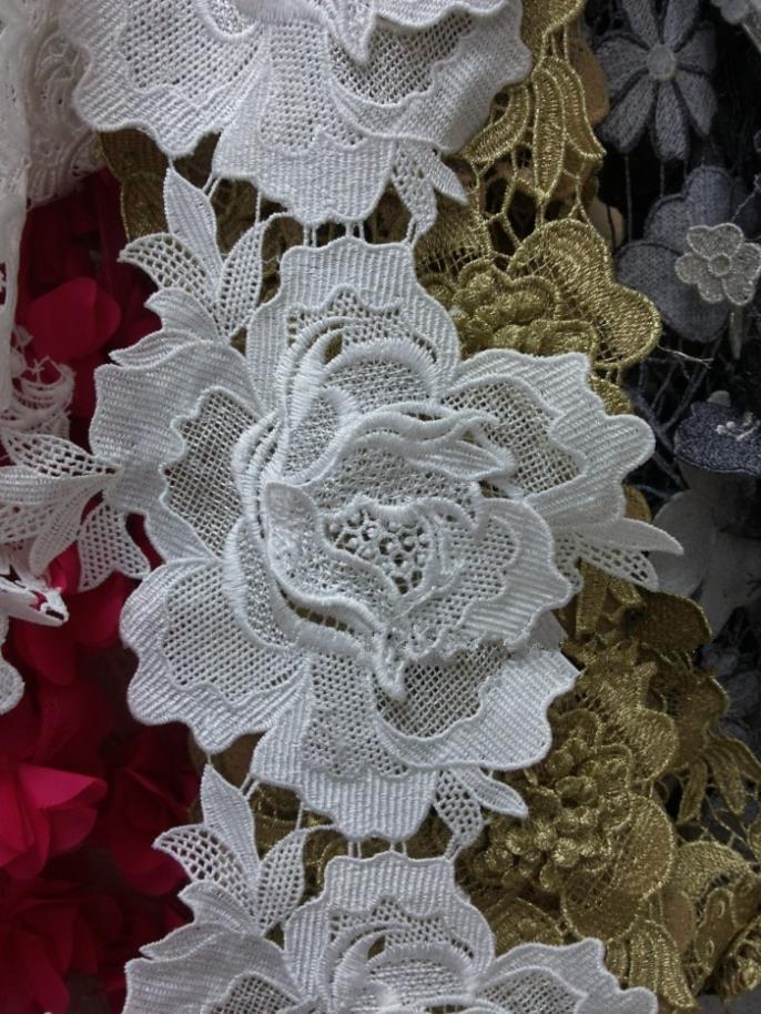 Aliexpress Com Buy 15yard 16cm Flower Guipure Lace