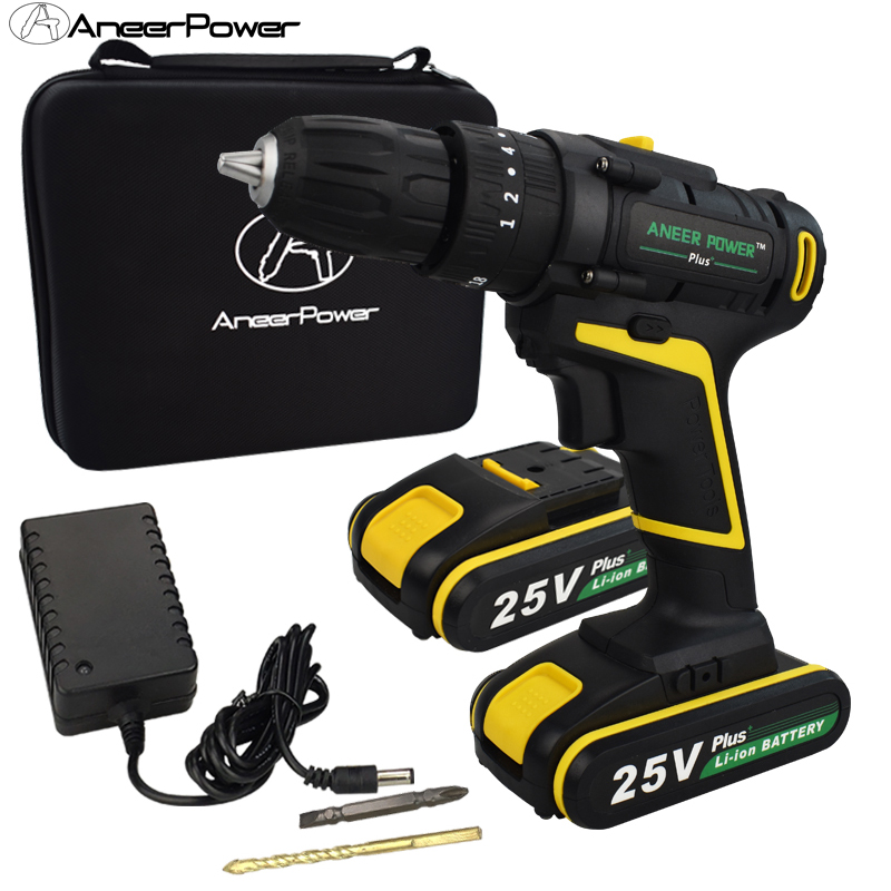 25V Plus <font><b>Impact</b></font> <font><b>Drill</b></font> <font><b>Screwdriver</b></font> <font><b>Electric</b></font> Power Tools Hand Tool <font><b>Drill</b></font> <font><b>Cordless</b></font> <font><b>Drill</b></font> Set Speed Machine Rotary Tool Battery Bit image