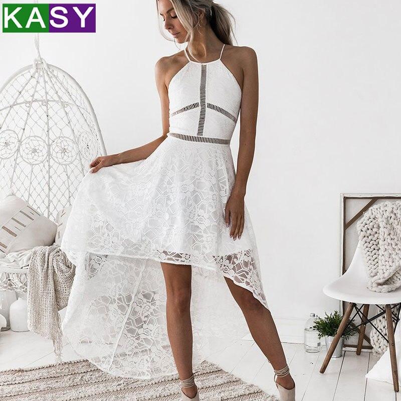 ladies white lace dress 2018 women elegant sleeveless bohemian summer dress zomer jurk robe dentelle blanche ete femme
