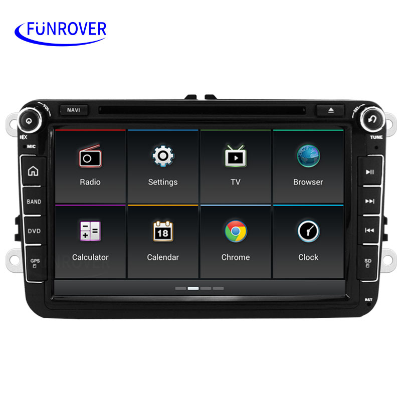 Funrover Android Car Radio Rns510 Stereo For Vw Passat B6 Golf 5