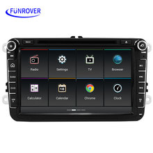 Newest Android 5.1 oem car stereo radio for vw passat b6 golf 5 Quad Core 8 inch car DVD GPS navigation car multimedia player FM