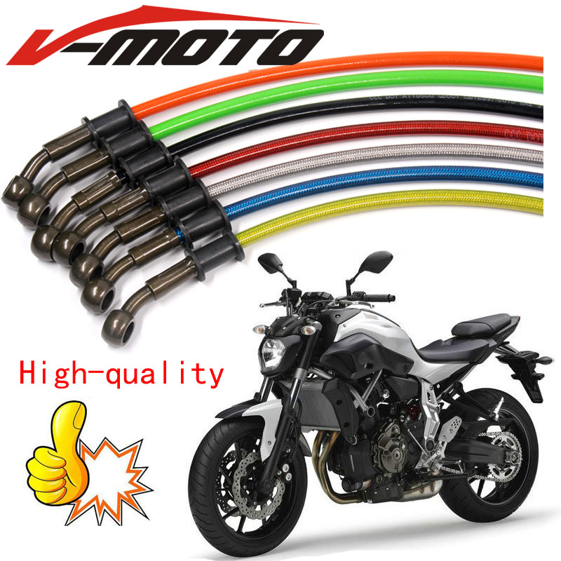 Motorcycle Dirt Bike Braided Steel Hydraulic Reinforce Brake line Clutch Oil Hose Tube 500 To 2300MM Universal Fit Racing