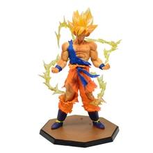 Super Saiyan Dragonball Z Goku Son Gokou Boxed KameHameHa Trunks Vegeta 14cm Action Figures PVC Model