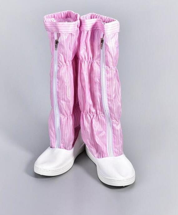 PVC-XS fondo duro anti-estática de alta cilindro zapatos libre de polvo PU anti piercing Acero Baotou cilindro largo protectora botas de seguridad