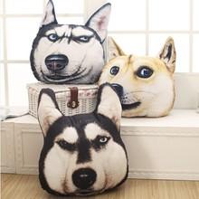 New Hot 3D Samoyed Husky Dog Plush Toys Dolls Stuffed Animal Pillow Sofa Car Decorative Creative kids Birthday Christmas Gift