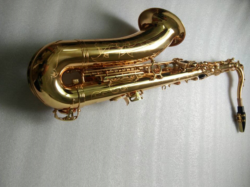 Mark VI Ouro Lacquer Saxofone Tenor Sax Tenor Sax Instrumentos Musicais Profissional Bocal Tenor Canas Pescoço Livre