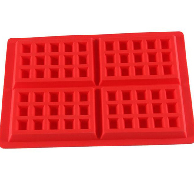 Silicone Waffle Molds Kitchen Baking Pan For In Pastry Chocolate Dining Bar Fondant Cake