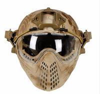 WoSporT חדש טקטית קסדה עם מסכת Airsoft הצבאי WarGame צבא אופנועים רכיבה על אופניים ציד רכיבה על פעילויות חוצות