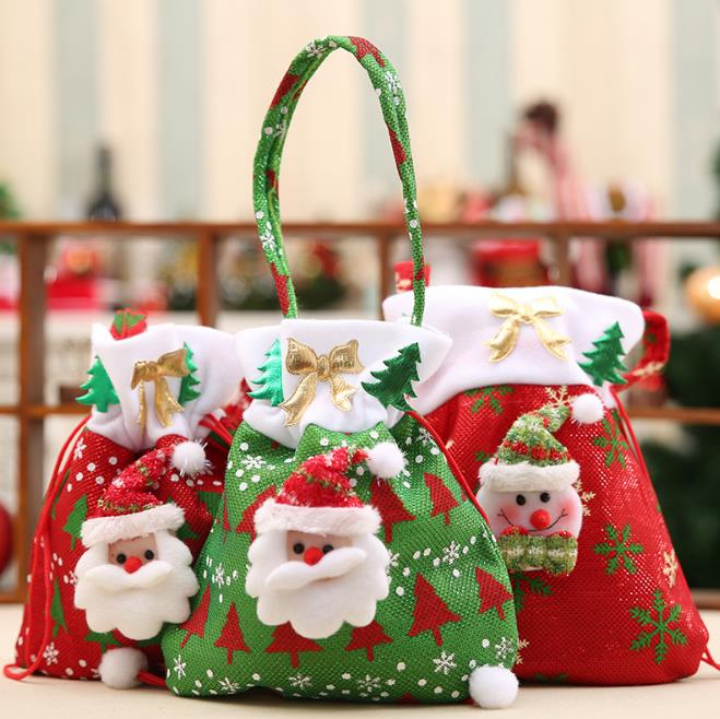 Canvas Christmas Gift Candy Bags Drawstring Favor Package Bulk Set Of Multi Style Neon Colored Goo In Wring