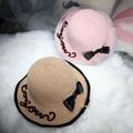 2016 new Bowknot Cotton fabric Soft Lady Hat New Korean summer Foldable Elegant Casual Fish man  Fedora Hat Warp Knitting Cap