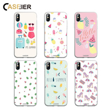 CASEIER Summer Element Series Case For iPhone XR XS MAX 7 8 6 6S Plus Lovely Phone X 5 5S SE Cover Funda