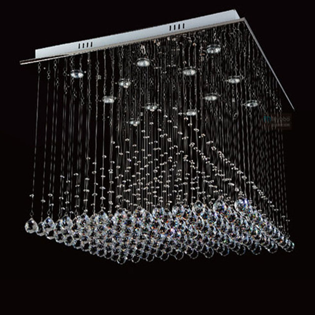 Luxury Large Modern Crystal Chandelier Lights Square 800mm