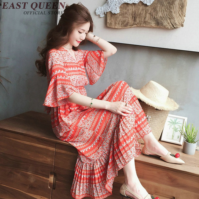 Hippie Bohemian Style Clothing Women Costume Dress Summer Boho Chic Dresses