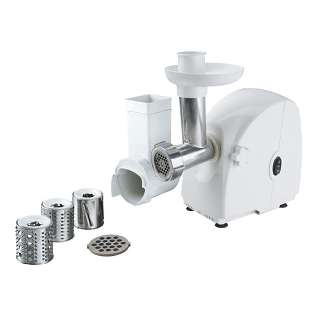 Мясорубка электрическая Чудесница EMS-pm04 (Пиковая мощность 1800 Вт, производительность 45 кг/ч, пластиковый корпус, металлический привод-шнек, насадки для шинкования овощей - 3шт)