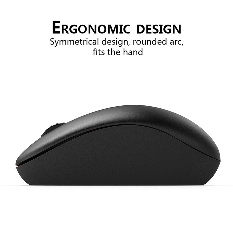 Creative Ergonomic 2.4g Mute Usb Wireless Mouse Office Travel Mice With Receiver For Laptop Pc Ijs998