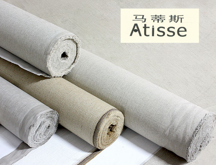 Atisse linen blend primed blank canvas for painting high for Canvas roll for painting
