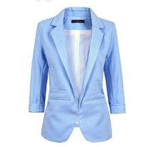 Womens Formal Office Work Blazers Rolled Sleeves